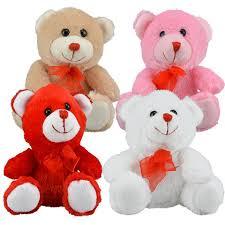 valentines bears bulk plush sitting bears 6 5 in at dollartree