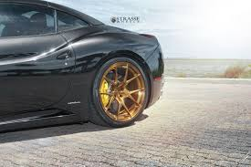 Ferrari California Black - black ferrari california matches up with gloss bronze wheels