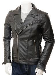 mens moto jacket mens biker leather jacket in black berners men caine