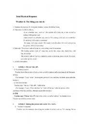english worksheets weather things you can do lesson plan for tpr