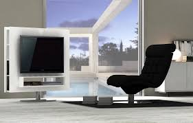 Ultra Modern White High Gloss Swivel TV Entertainment Unit Chicago - Contemporary furniture chicago