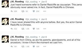 harry potter u0027 author jk rowling reveals daniel radcliffe chinese