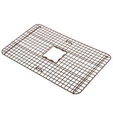 sinkology wright copper kitchen sink bottom grid heavy duty vinyl