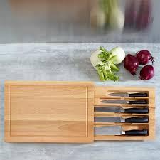 planche à découper cuisine vente set de 5 couteaux de cuisine avec planche à découper en bois