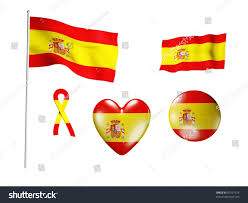 Spain Flags Spain Flag Set Icons Flags On Stock Illustration 97597514