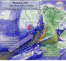 Lightning Strikes Map Summary Of March 2 2012 Snow Event