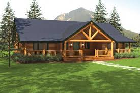 ranch log home floor plans sequoia ii home plan by big log timber homes