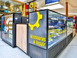 the repair shop kiosk interior design by oro design sydney