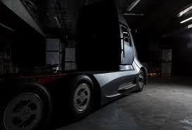 real futuristic cars first look tesla semi real world photo confirms futuristic design