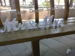 mr mrs sign for wedding table mr mrs letters wedding table decoration freestanding sign for