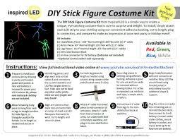 amazon com led stick figure costume white toys u0026 games