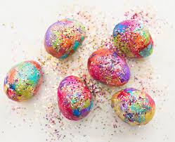 glitter easter eggs sparkly diy glitter and tissue paper easter eggs