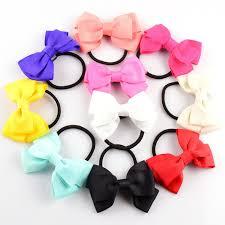 3 grosgrain ribbon 6pcs 3 grosgrain ribbon hair bow with black elastic hairbands