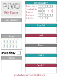 weekly diet planner template piyo meals and recipes check out my week 1 meal plan healthy piyo meal planner printable