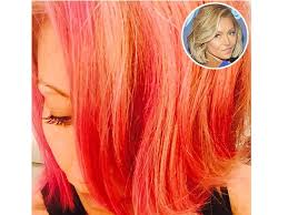 hair color kelly ripa uses kelly ripa dyes her hair pink reveals i might go red next