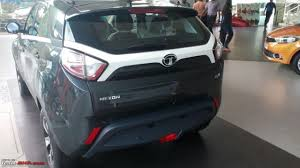 Gry Colour Tata Nexon Spotted In Sundown Grey Colour At A Dealership