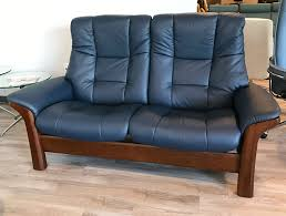 Colorful Chair Loveseats Stressless Buckingham 2 Seat High Back Loveseat Paloma Oxford Blue
