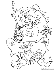 sorceress flies on broomstick coloring pages hellokids com