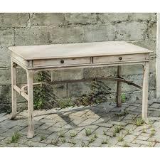 Antique White Desks by Uttermost Bridgely Writing Desk Aged White Hayneedle