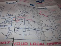 hurst map vintage hurst euless bedford map 1977 with some advertising