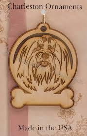 engraved wooden custom maltese ornament personalized free maltese