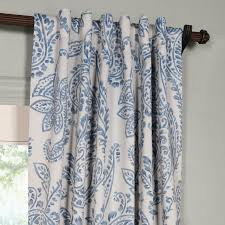 tea time china blue 84 x 50 inch blackout curtain half price