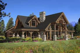 Small Country Style House Plans Log Post And Beam Contemp Hahnow