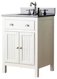 French Bathroom Cabinet by Single Sink Vanity In French White Finish Beach Style Bathroom