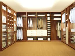 interior modest tiny walk in dressing room design with wooden