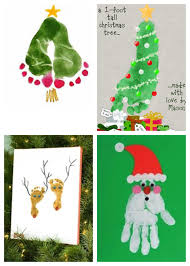 christmas handprint art ideas like this santa too double foot