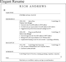 Elegant Resume Templates Job Resume Free Restaurant Manager Resume Examples Template