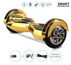 bugatti gold and white lamborghini hoverboard 8 inch with bluetooth speaker smart