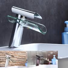 2017 wholesale bathroom faucet advanced modern glass waterfall
