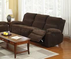 reclining sofa cm6554 in dark brown fabric w options