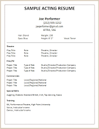 create your own resume template acting resume maker best resume collection