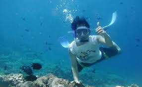 jeep snorkel underwater snorkelling at bogmalo beach in goa thrillophilia