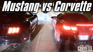 race to win corvette epic race between a mustang and a corvette who will win