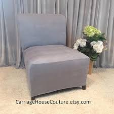 grey chair slipcovers slipcover beige suede stretch chair cover for armless chair