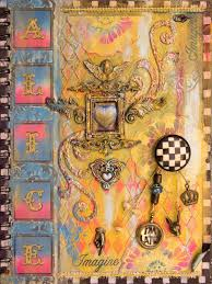 alice in wonderland art journal mixed media tutorial