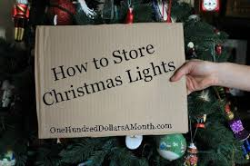 how to store christmas lights easy holiday tips storing christmas lights one hundred dollars a