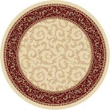 Round Persian Rug by Tayse Area Rugs Elegance Rugs 5402 Beige Oriental U0026 Persian