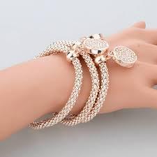 gold plated charm bracelet chain images Round hollow charm bangles bracelets buyoncloud jpg