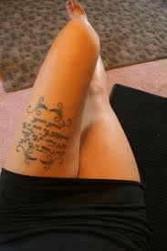 collection of 25 thigh quotes tattoos