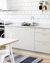 interior white scandinavian kitchen design with retro touches