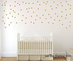 Name Wall Decals For Nursery by Gold Wall Decals Polka Dots Wall Decor Confetti Polka Dot