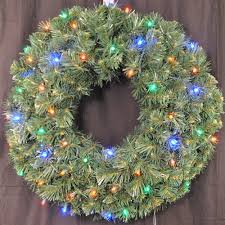 of pre lit battery operated led sequoia wreath