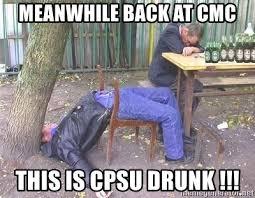 Drunk Yoga Meme - meanwhile back at cmc this is cpsu drunk irish yoga meme