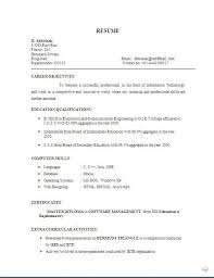 resume format for freshers electronics and communication engineers pdf free download biodata and resume free download sle template exle of