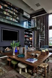 Contemporary Home Interior Luxury And Dramatic Contemporary Apartment In Brazil Decoholic