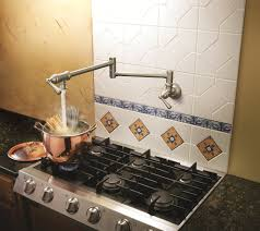 decorating daltile backsplash with pot filler faucet